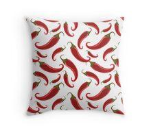 HOT HOT HOT RED CHILI PEPPERS Throw Pillow