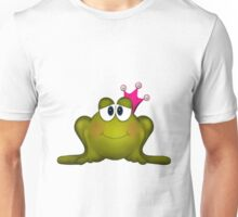 Frog in Pink Pearl Crown Unisex T-Shirt