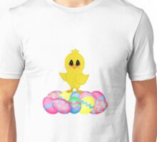 Easter Chick on Pastel Eggs Unisex T-Shirt
