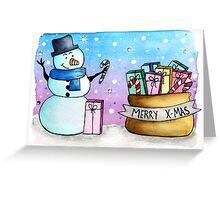 Magical Xmas Snowman Greeting Card