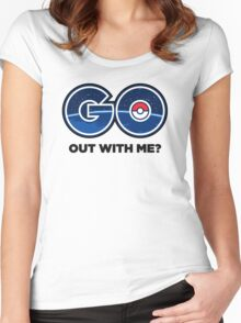 GO Out With Me? Women's Fitted Scoop T-Shirt