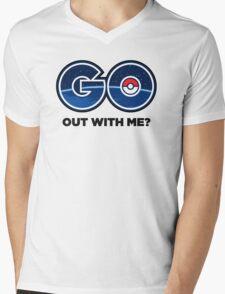 GO Out With Me? Mens V-Neck T-Shirt