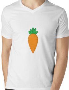 Orange Carrot Mens V-Neck T-Shirt