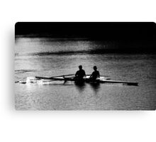 """The Scullers"" Canvas Print"