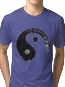 tai chi ying yang logo black and white Tri-blend T-Shirt
