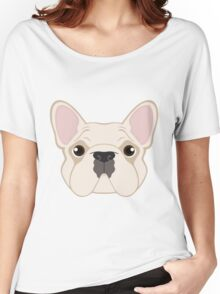 Frenchie - Cream Women's Relaxed Fit T-Shirt