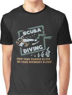 Scuba Diving Funny Logo Graphic T-Shirt