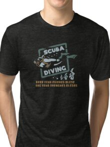 Scuba Diving Funny Logo Tri-blend T-Shirt