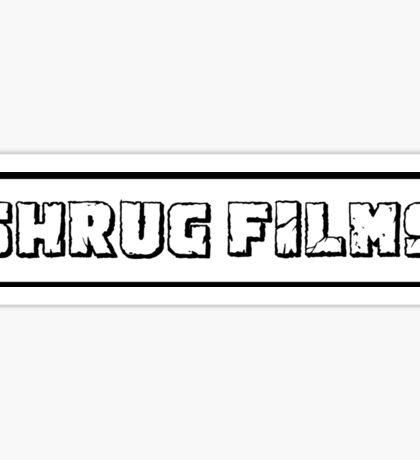 Shrug Films Logo Sticker