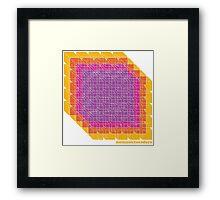 Ice Cubism Framed Print
