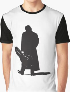 johnny cash back walking with guitar art Graphic T-Shirt