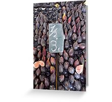 Fresh Figs Stall at Spanish Food Market Greeting Card