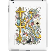 "The Illustrated Alphabet Capital  K  ""Getting personal"" iPad Case/Skin"