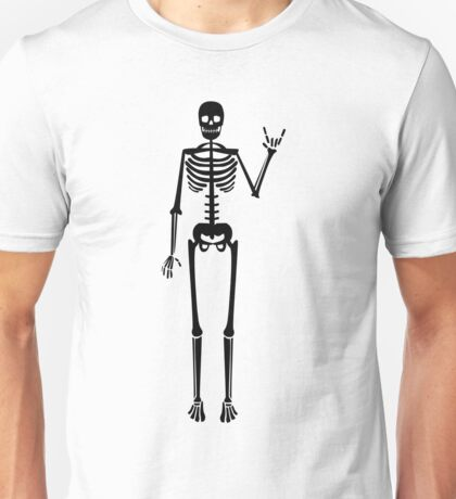 Black skeleton - Rock and roll - ILY Unisex T-Shirt