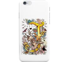 "The Illustrated Alphabet Capital  J  ""Getting personal"" iPhone Case/Skin"