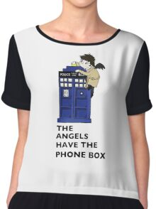 Castiel Has The Phone Box Chiffon Top