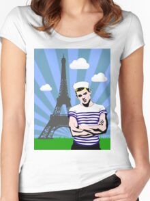 Paris Je T'aime Women's Fitted Scoop T-Shirt