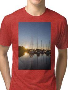 Rainbow Sunrays - Summer Sunrise With Yachts Tri-blend T-Shirt