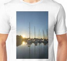 Rainbow Sunrays - Summer Sunrise With Yachts Unisex T-Shirt
