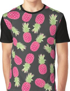 Summer Strawberry Tropical Pineapples Graphic T-Shirt