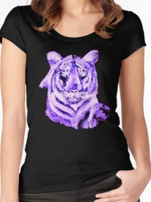 PURPLE TIGER LIGHT COLLECTION Women's Fitted Scoop T-Shirt