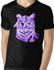 PURPLE TIGER LIGHT COLLECTION Mens V-Neck T-Shirt