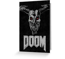 Doom - Icon of Sin V2 Greeting Card