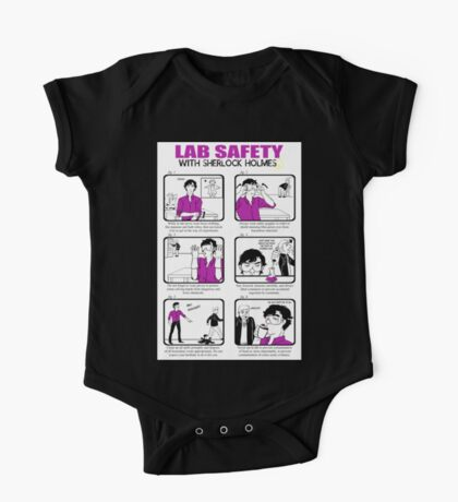 Lab Safety with Sherlock Holmes  One Piece - Short Sleeve