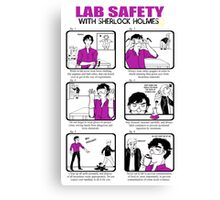 Lab Safety with Sherlock Holmes  Canvas Print