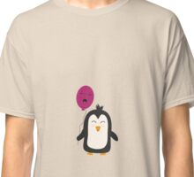 Penguin with balloon   Classic T-Shirt