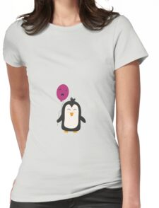 Penguin with balloon   Womens Fitted T-Shirt