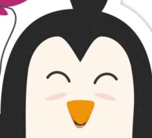 Penguin with balloon   Sticker