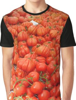 Piles of Tomatoes at Spanish Food Market Graphic T-Shirt