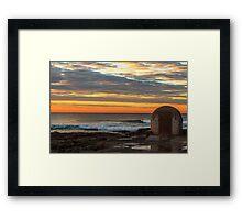 Newcastle Ocean Baths Pumphouse Framed Print
