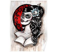 Day of the dead pinup tattoo Poster
