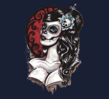 Day of the dead pinup tattoo Kids Tee
