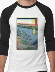 Niishuku Ferry - Ando Hiroshige - 1857 - woodcut Men's Baseball ¾ T-Shirt