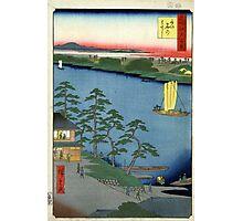Niishuku Ferry - Ando Hiroshige - 1857 - woodcut Photographic Print