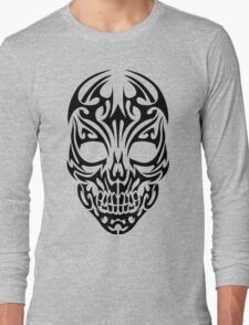 Tribal Skull Design Long Sleeve T-Shirt
