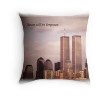 Twin Towers, NY Throw Pillow