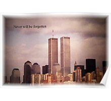Twin Towers, NY Poster