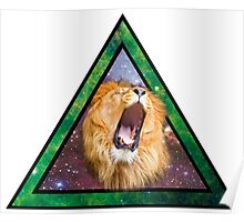 Space Lion Poster