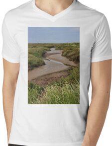 Blakeney mudflats and saltmarsh Mens V-Neck T-Shirt