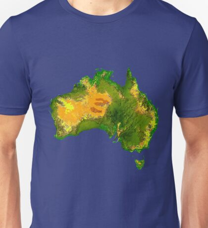 Australia Physical Map Unisex T-Shirt