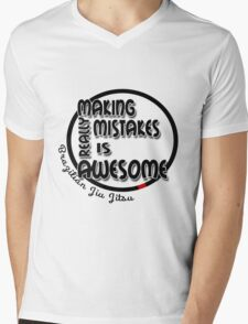 BJJ Brazilian Jiu Jitsu - making mistakes Mens V-Neck T-Shirt