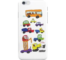 Child's hand draw cars.Funny colored cartoon Doodle iPhone Case/Skin