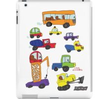 Child's hand draw cars.Funny colored cartoon Doodle iPad Case/Skin