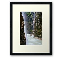Alpine Waterfall Framed Print