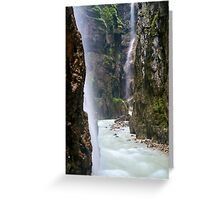 Alpine Waterfall Greeting Card