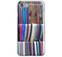 Rows Stripes of Hanging Colourful Pashmina Scarves  iPhone Case/Skin